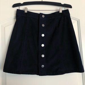Express Suede Snap Skirt